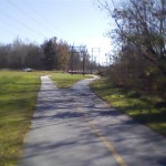 Greenway path picks up here to go to Jackson Park.