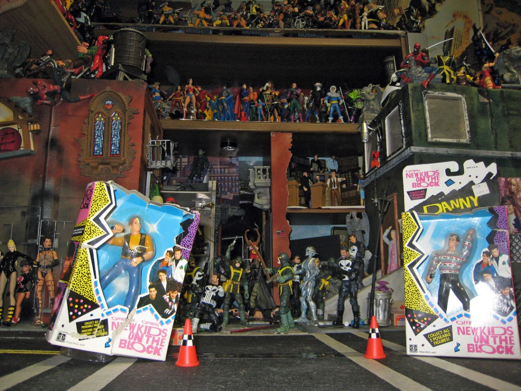 NKOTB in superhero town